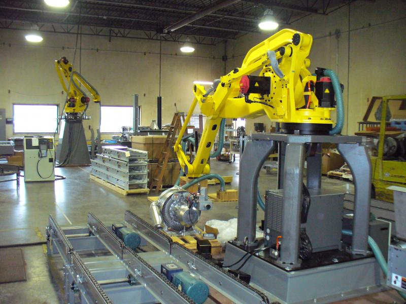 robotic bag palletizer integration facility