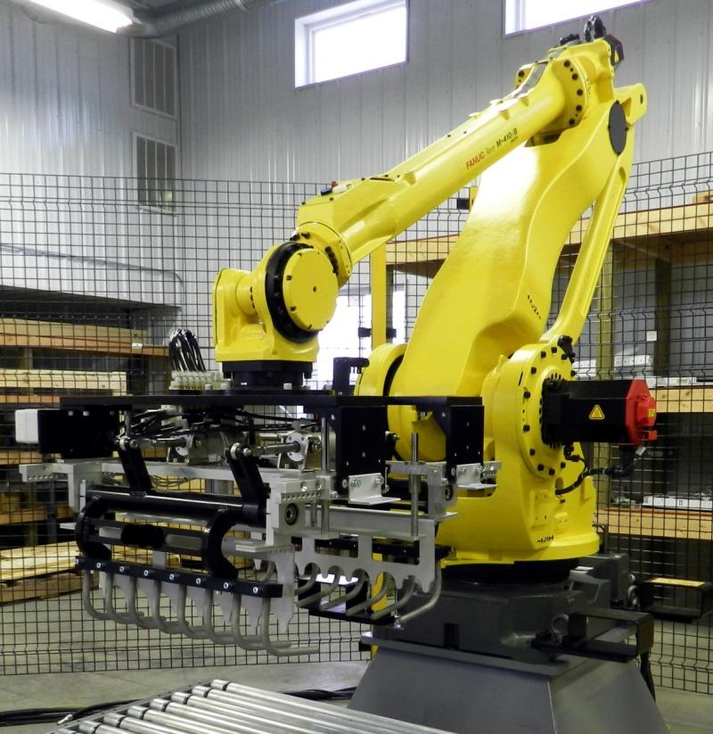 robotic bag palletizer Base System 50 for food ingredients in central Wisconsin