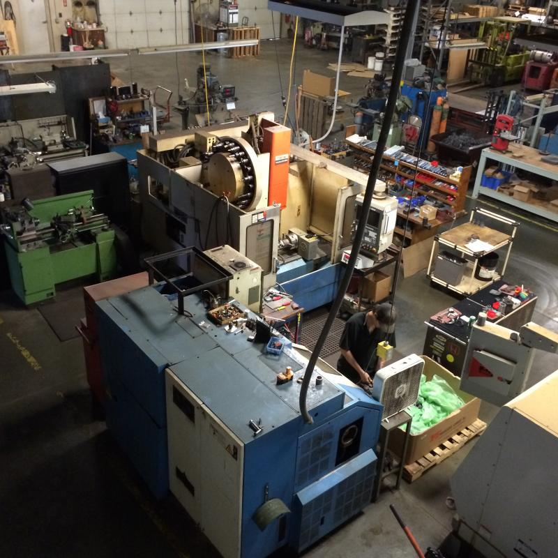 robotic bag palletizer full machine shop capabilities for custom manufacturing